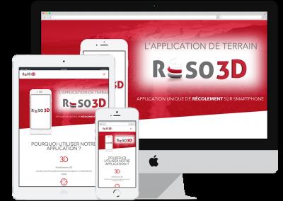 Création Site Application : Réso 3D