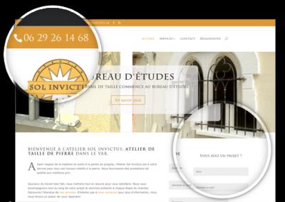 Création Site Internet : atelier-sol-invictus.fr