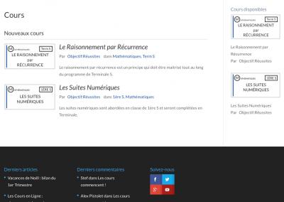 création site web : objectifreussite.fr