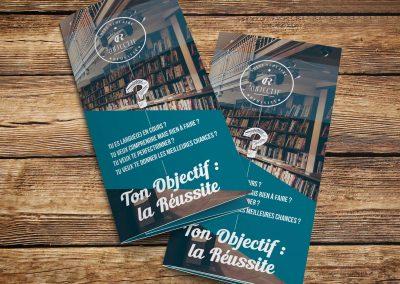 Création Brochure : Dépliant Descriptif pour Société de suivi scolaire