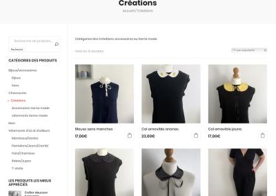 SVrai Création : création site e-commerce : https://christelleup.fr