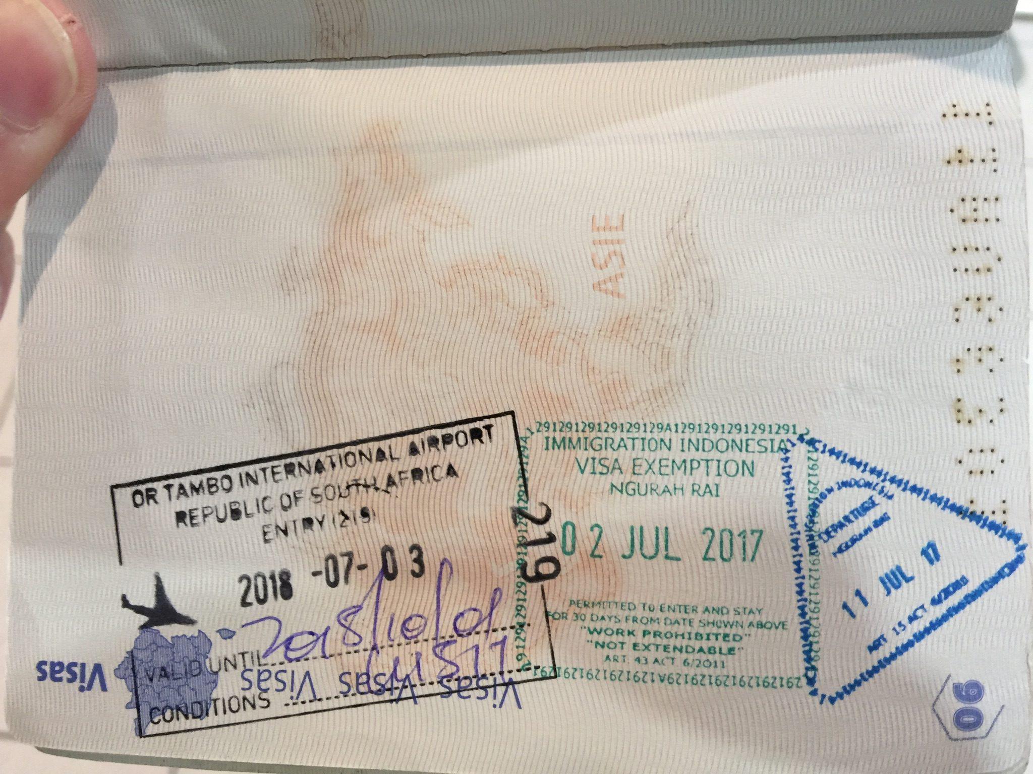 Mon voyage en Afrique du Sud 🇿🇦 – Jour 0,5