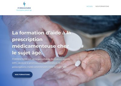 Création site vitrine - prescrire-formafarm.com