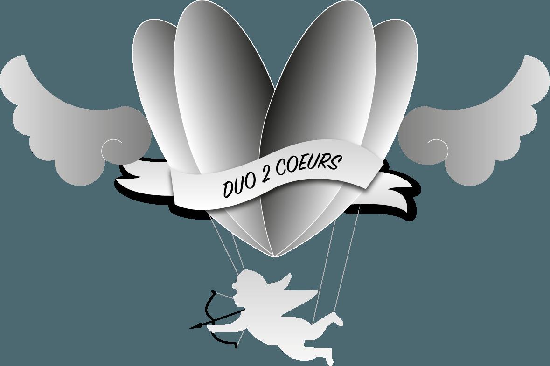 Création Logo - Duo2Coeurs - SVrai Création