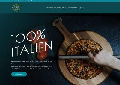 SVrai Création : création site vitrine - Restaurant La Storia