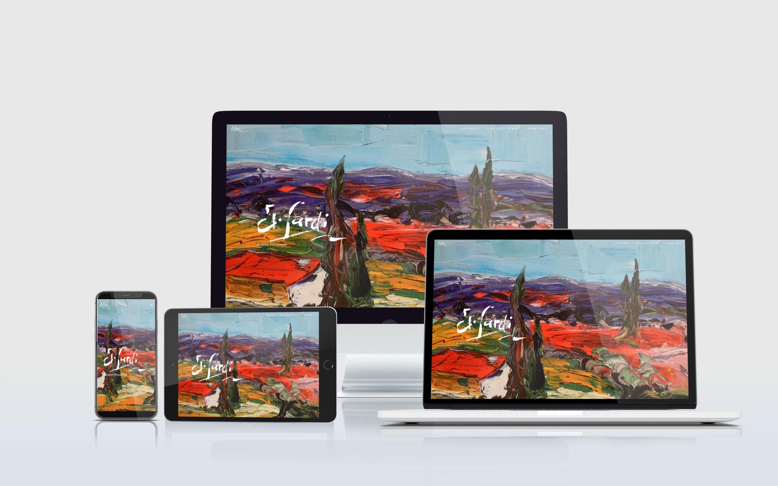 SVrai Création : création site vitrine - Jean Sardi - Peintre provençal